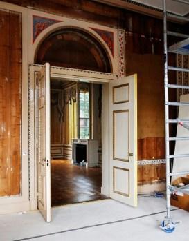 Huis Barnaart in Haarlem tijdens de restauratie - Foto Jan Luijk