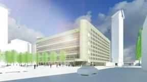 Een digitaal plaatje van het gebouw Beeld: Braaksma en Roos