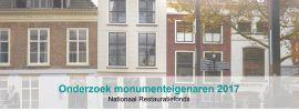 Nationaal Restauratiefonds: Onderzoek monumenteigenaren 2017