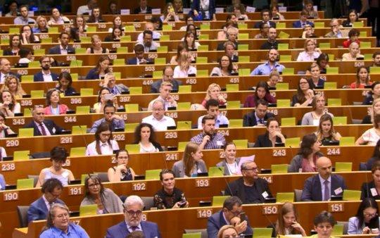 Higher level conference over Cultureel Erfgoed in het Europees parlement. Beeld Erfgoedstem.