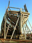 De replica van het schip De Delft