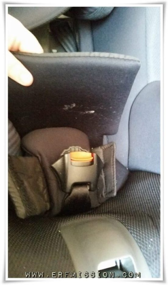 "There are two ""flaps"" inside the seat."