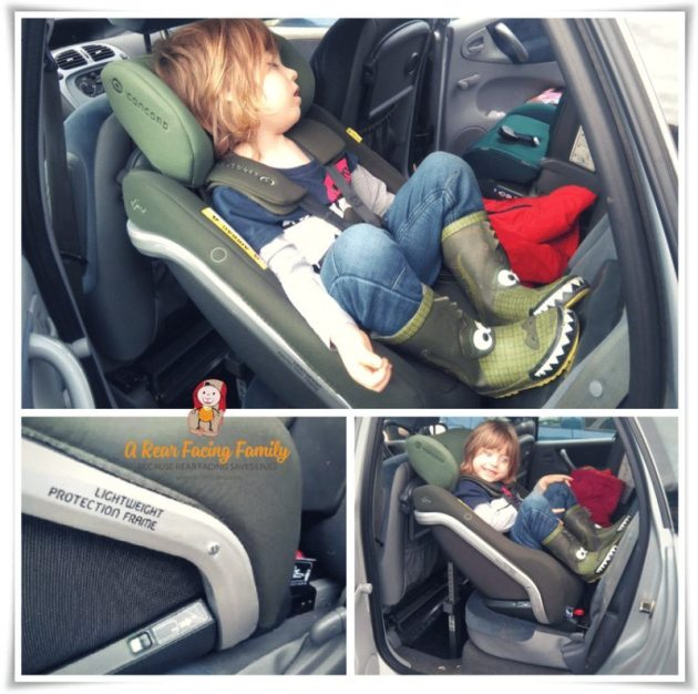 Henry sleeping in the Concord Reverso Plus