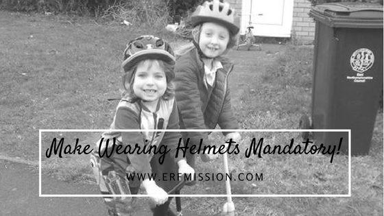 Make wearing helmets mandatory!
