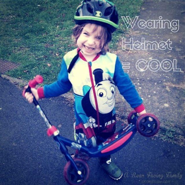 Wearing a helmet is cool!