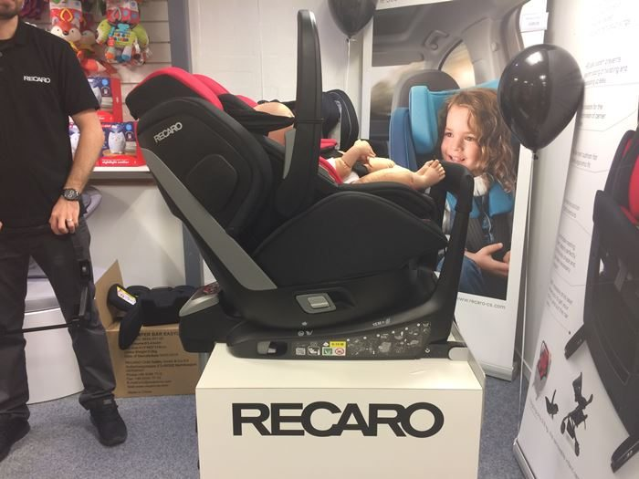 """Fred"" in Recaro Zero 1. Elite showing recline"
