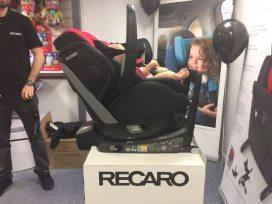 """Fred"" in Recaro Zero 1. Elite showing recline"