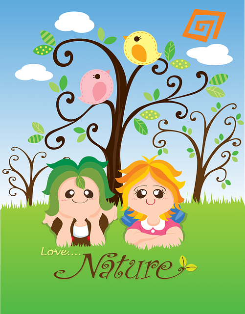 kids enjoying nature