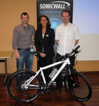 2010 an der SonicWall Roadshow zusammen mit Sarah Trunk und Sven Kugler