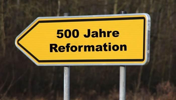 Ein Schild Reformation