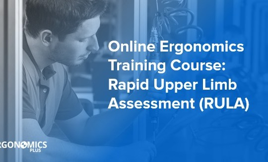 Online Ergonomics Training Course — Rapid Upper Limb Assessment (RULA)