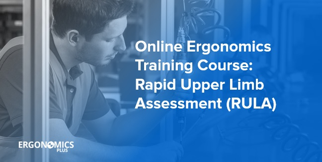 Online Ergonomics Training Course --- Rapid Upper Limb Assessment (RULA)