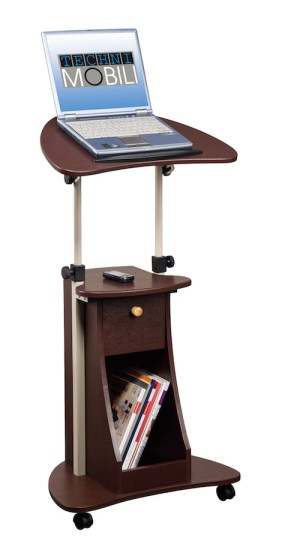 Techni Mobili Adjustable Deluxe Rolling Laptop Cart