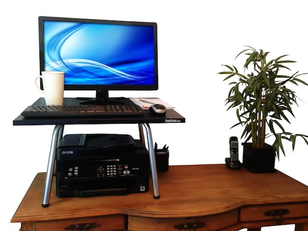 convert your desk to a standup desk with original stand steady