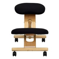 flash furniture Mobile Wooden Ergonomic Kneeling Chair