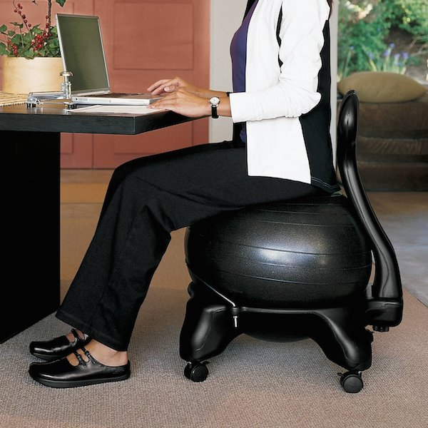 Gaiam Balance Ball Chair in action