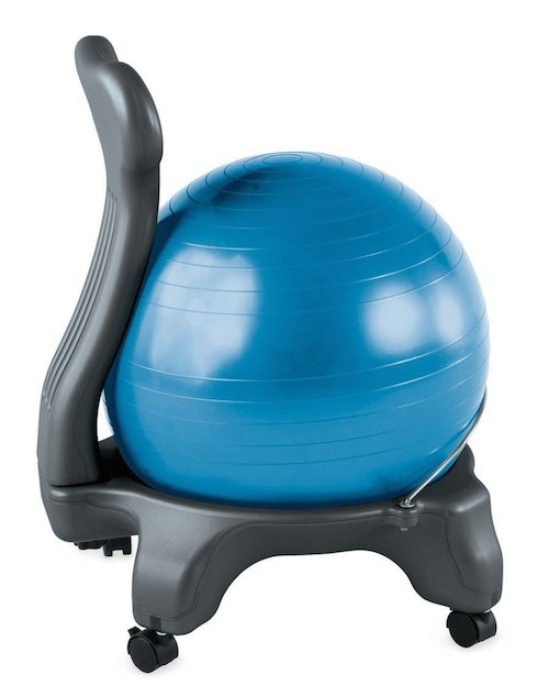 gaiam balance ball chair in blue
