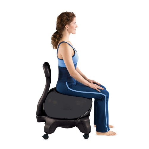 review Gaiam Balance Ball Chair.