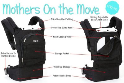 best ergonomic baby carrier - The Mo+m baby Carrier