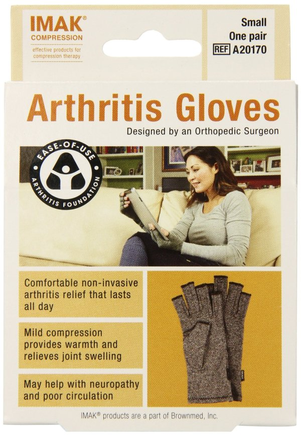 IMAK compression arthritis gloves for pain relief