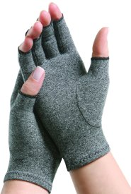 medium gray arthritis gloves