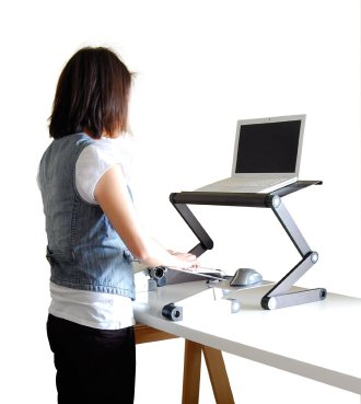 uncaged work ez standing desk converion kit