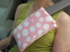 breast cancer surgery gift idea - Mastectomy Lumpectomy Pillow Seat Belt Chemo Port Cover Surgery Breast Cancer Pillow Gift Polka Dot