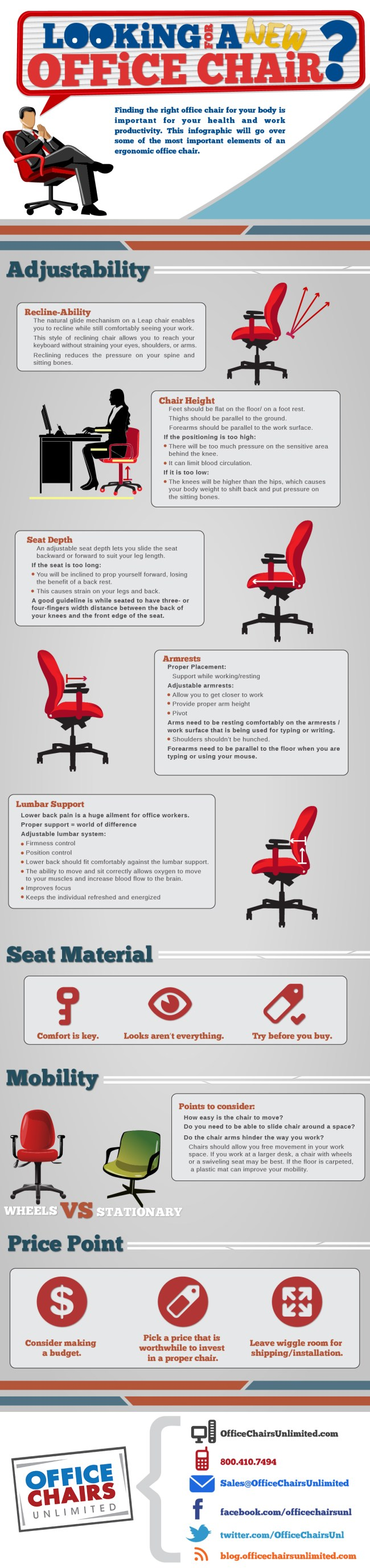 how to find a new office chair