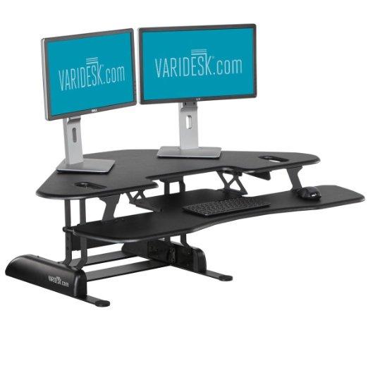 Height-Adjustable Standing Desk for Cubicles - VARIDESK Cube Corner 48