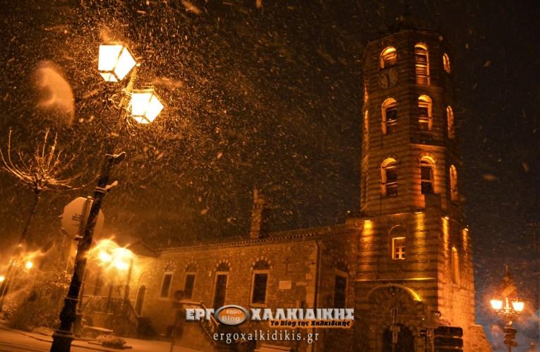 Χαλκιδική: Τα πρώτα Χιόνια του 2021 στην Αρναία (Φωτο)