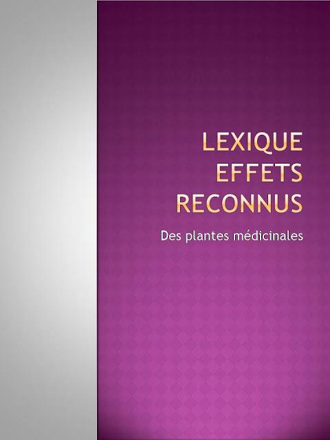 Lexique des effets reconnus