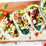 This Grilled Chicken Street Taco recipe is the perfect grilled taco recipe! Simple and healthy these tacos are perfect for a party or family meal! There is also an amazing cilantro lime butter to top off these perfect tacos!