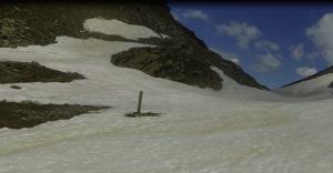 Le col du sabot dans la neige