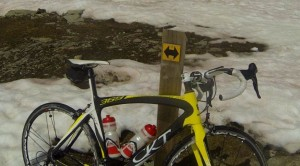 Mon vélo dans la neige