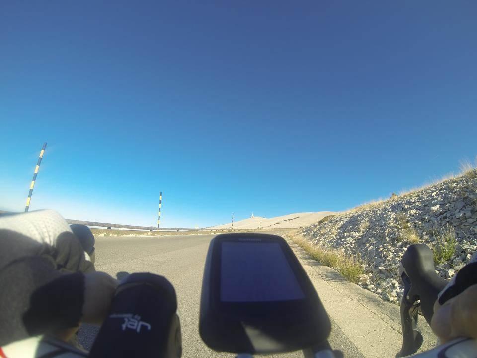Dans les 6 derniers km de l'ascension