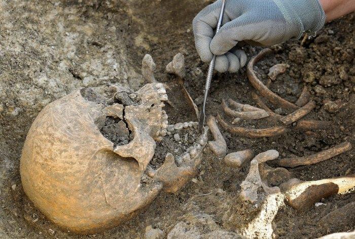 20 avril. Après des mois de travaux, des archéologues dévoilent 300 tombes médiévales découvertes sous les fondations d'une maison près de l'église Saint-Florent à Niort.