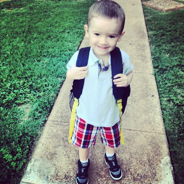 Hero is looking fresh for school!