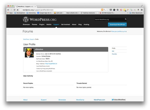 WordPress Profile