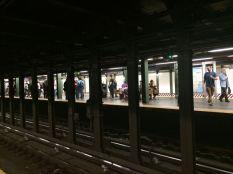 At an NYC Subway Station