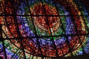 Stained glass at First Baptist Church