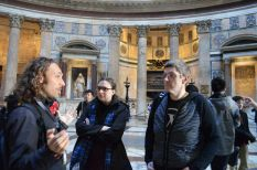 Jennifer, Allen, and Vincenzo in Pantheon