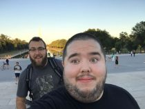 Michael and I at Lincoln Memorial