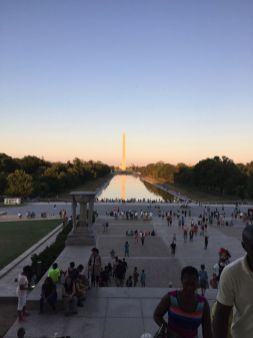 Washington Monument as viewed from Lincoln Memorial