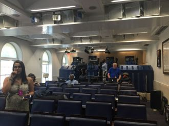 The back of the White House press room