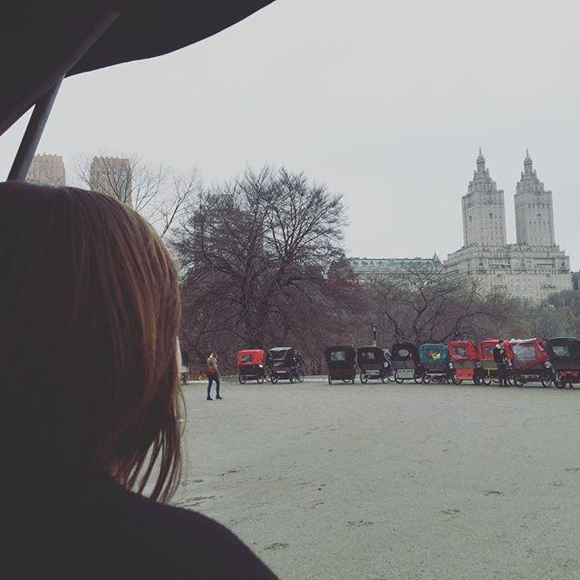 Sara on the pedi cab at cherry hill
