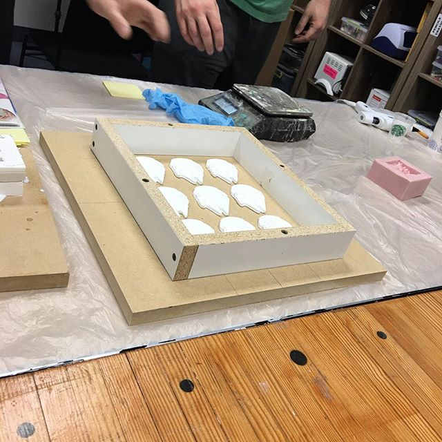Class project is making a mold of several Millennium Falcons ?