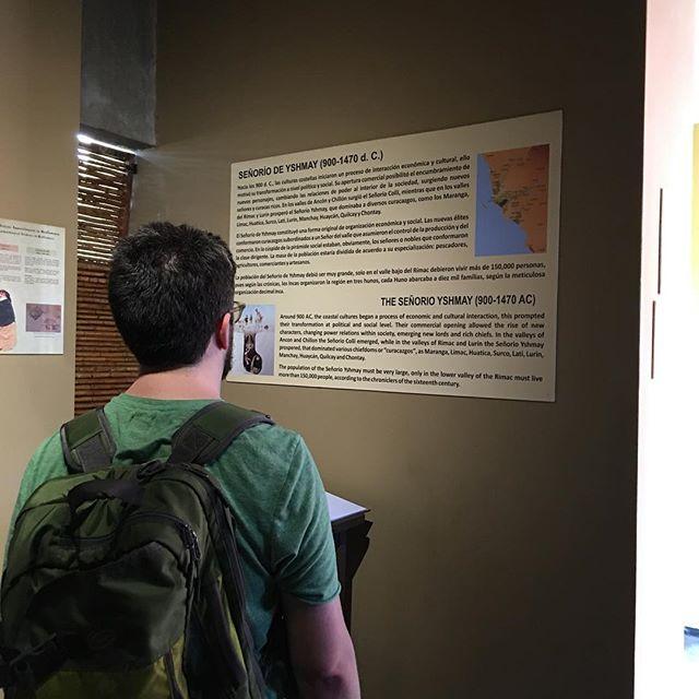 @roccotrip at Huaca Muallamarca museum.