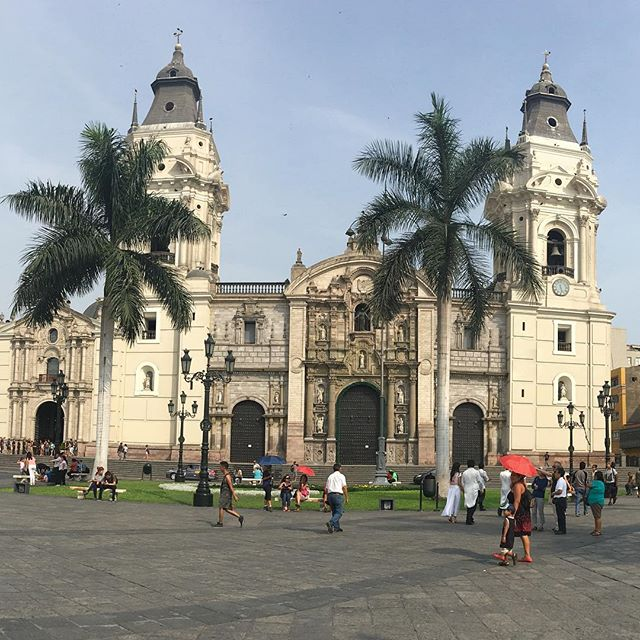 Cathedral in city center of Lima.