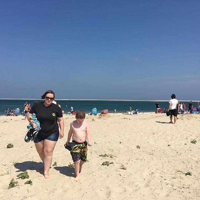 Sara and Hero at Chatham Beach