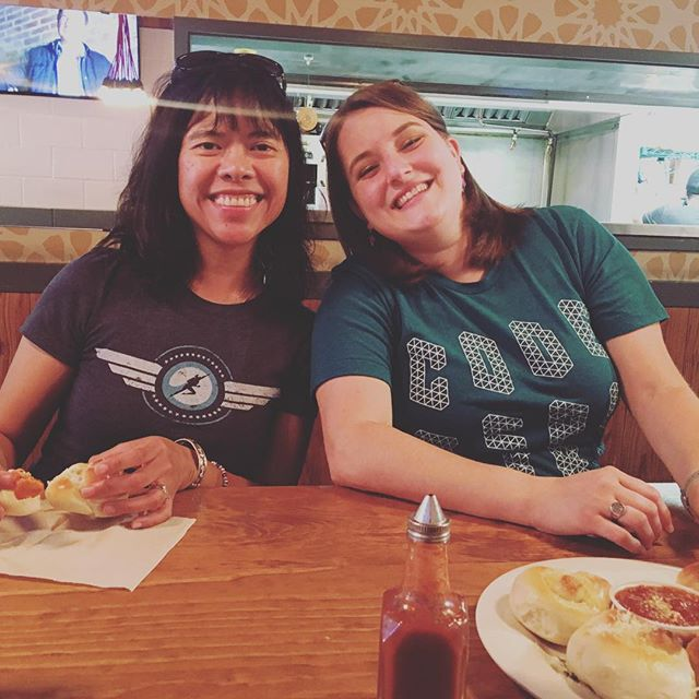 @myinnerfrenchgirl and @realcarfax at Greenville Pizza Company for #dallasmatticians #coworking day. #latergram